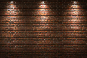 Brick Wall with Lighting