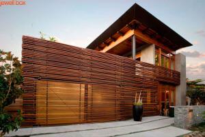 Wood Slat House Design
