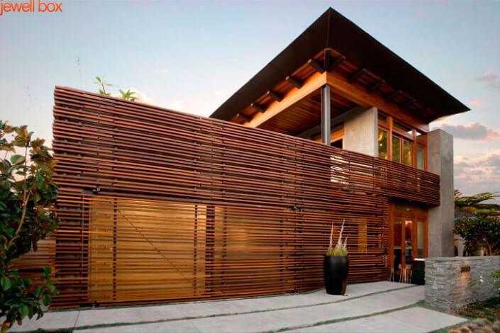 Wood Slat House Design