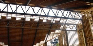 Ceiling under construction